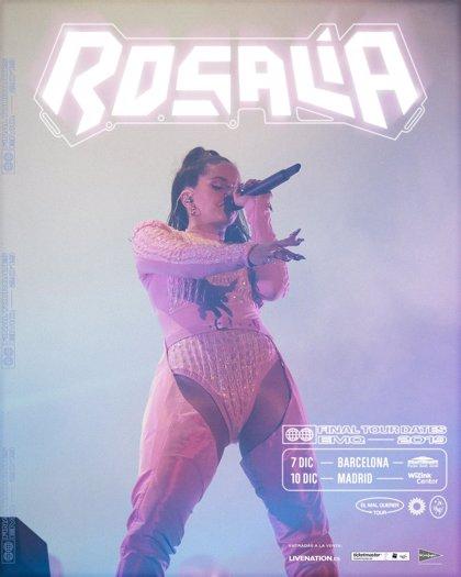Rosalía actuará en Barcelona y Madrid en diciembre