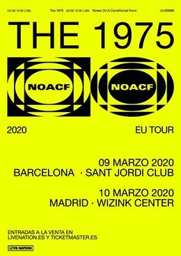 Cartel de los conciertos de The 1975