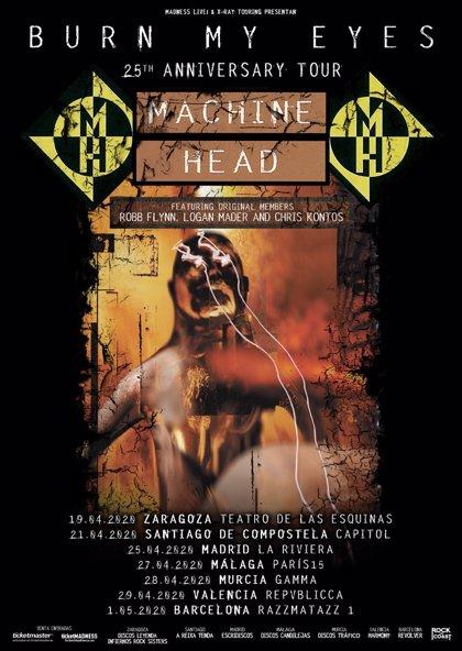 Machine Head celebra los 25 años de 'Burn my eyes' con siete conciertos en España