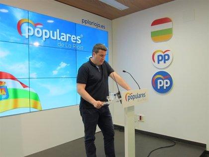 """El PP advierte que el Gobierno Andreu """"impide"""" la actividad parlamentaria """"por miedo"""" a comparecer en la Cámara riojana"""