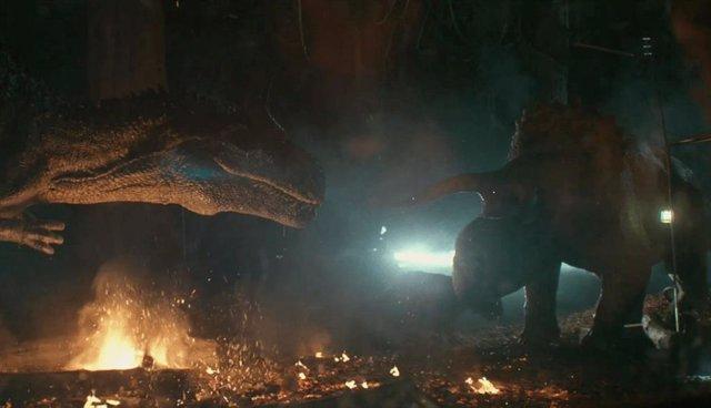 Allosaurus y Nasutoceratops, los nuevos dinosaurios de Jurassic World: Battle at Big Rock
