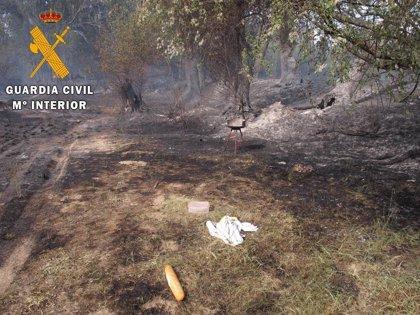 Investigado un hombre por provocar un incendio en Santa Cruz del Retamar al encender una barbacoa