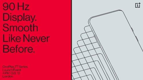 Cartel de presentación del OnePlus 7T