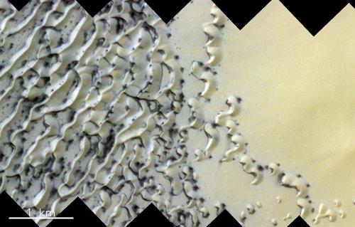 Dunas en el polo norte de Marte