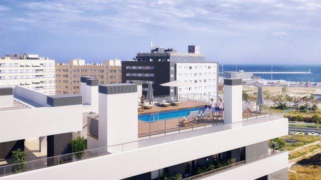 Edificio que Metrovacesa va a construir en el barrio de Benalúa Sur de Alicante