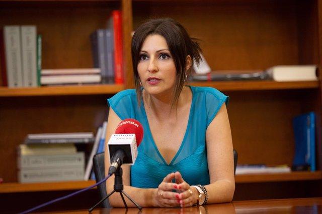 La portaveu de Cs al Parlament, Lorena Roldán, en una entrevista a Europa Press a Barcelona.