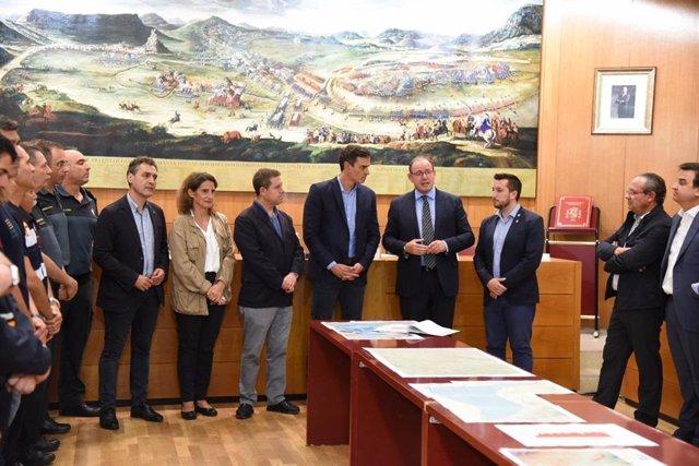 El presidente del Gobierno en funciones, Pedro Sánchez, visita Almansa.