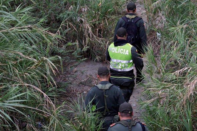 Policía de Colombia en Cúcuta, cerca de la frontera con Venezuela