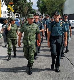Guardias civiles participan por primera vez en el desfile del aniversario de la