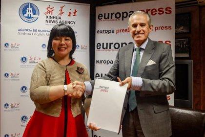 La agencia china Xinhua y Europa Press colaborarán para dar a conocer la realidad de ambos países