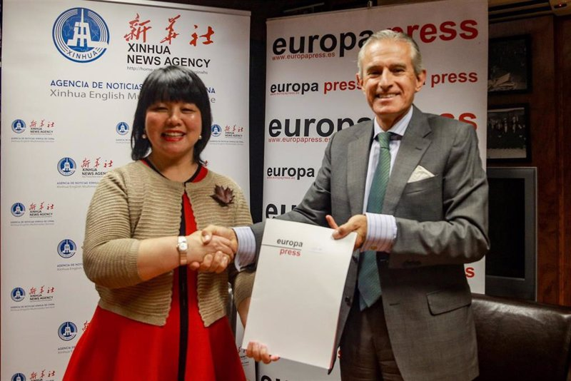 La agencia china y Europa Press colaborarán para dar a conocer la realidad de ambos países