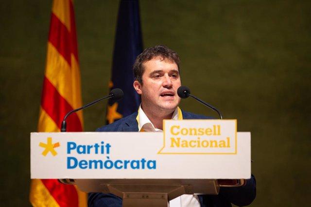 El president del PDeCAT, David Bonvehí, (ARXIU)