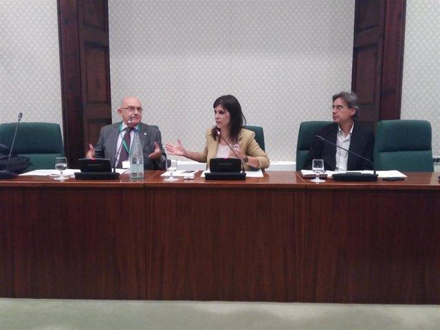 Ponencia en el Parlament de la proposición de ley de alertadores, con el director de la OAC Miguel Ángel Gimeno