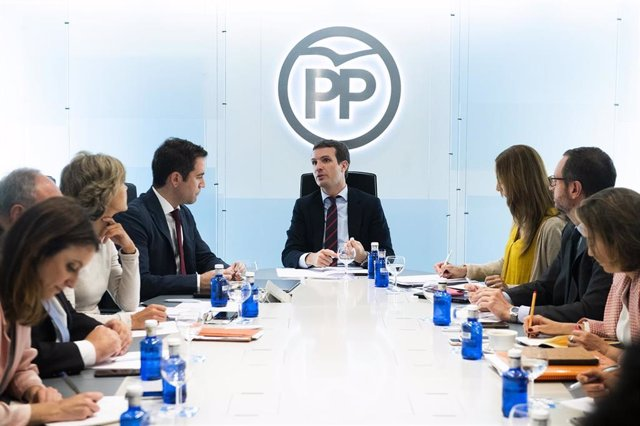 Pablo Casado presideix el Comité de Direcció del PP a Génova