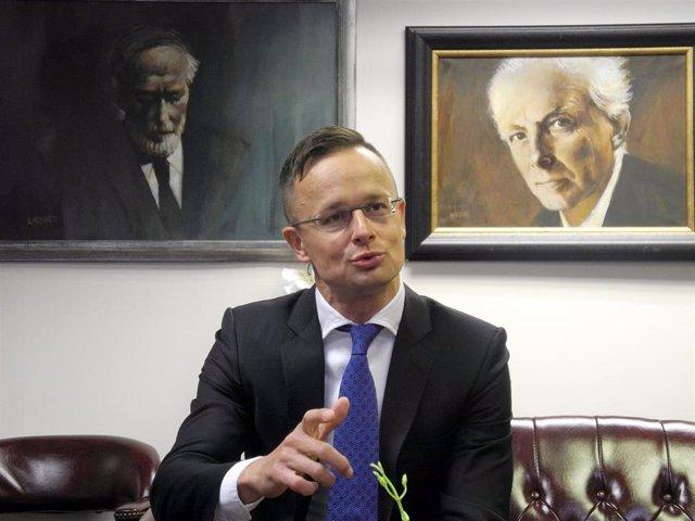 El ministro de Asuntos Exteriores de Hungría, Peter Szijjarto