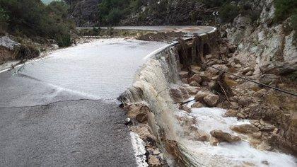 Un total de 19 carreteras de la Comunitat Valenciana continúan cerradas por la DANA