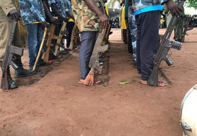 Liberación de niños soldado en Yambio, Sudán del Sur