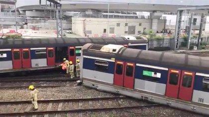 El descarrilamiento de un tren deja varios heridos en Hong Kong