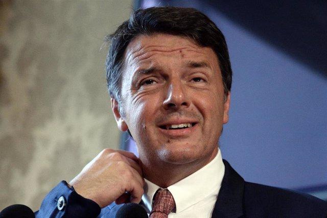 Matteo Renzi, exprimer ministro italiano y exlíder del Partido Democrático
