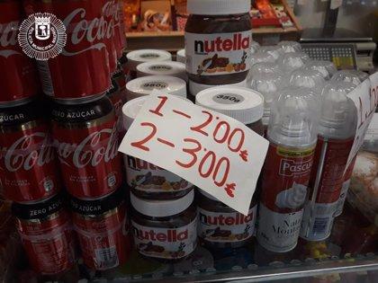 Policía Municipal recupera en un comercio de Vallecas mercancía alimentaria robada en Seseña