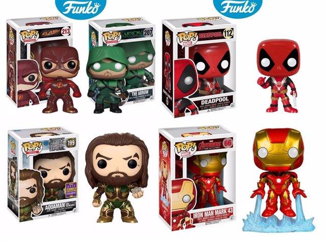 Muñecos Funko Pop de Marvel y DC