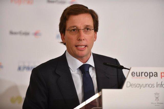 José Luis Martínez-Almeida, alcalde de Madrid, en el desayuno informativo de Europa Press