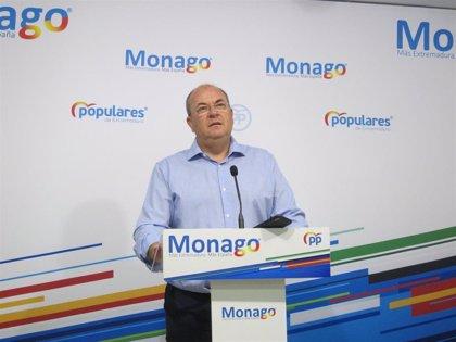 """Monago señala que """"a nadie debe extrañar"""" los movimientos de Cs """"por su asimetría, puede apoyar a uno y al contrario"""""""