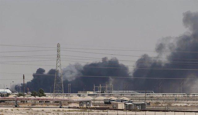 Instalación petrolera atacada en Abqaiq