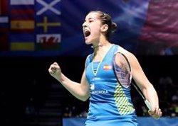 Carolina Marín aconsegueix la seva primera victòria després de la greu lesió de genoll (EUROPA PRESS - Archivo)