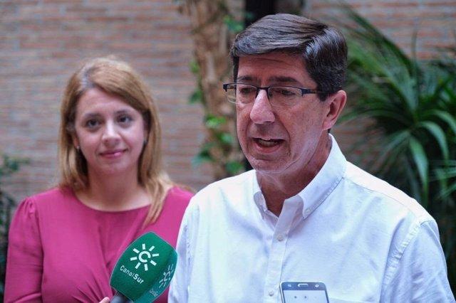 El portavoz de Cs en Andalucía y vicepresidente de la Junta, Juan Marín