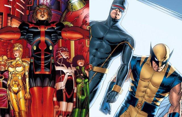 Eternos y X-Men de Marvel