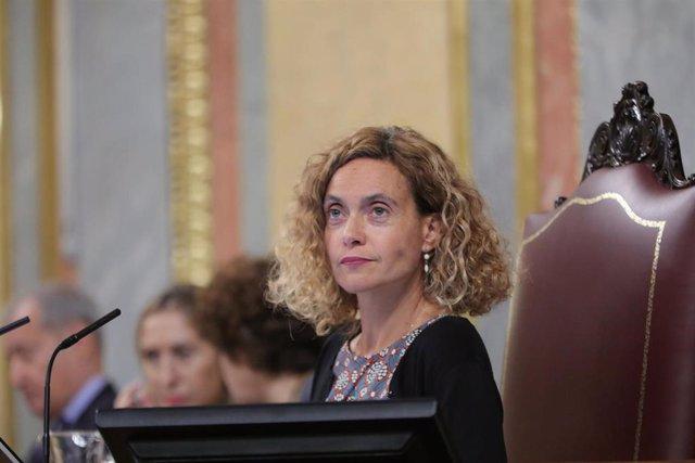 Meritxell Batet, presidiendo el Pleno del Congreso