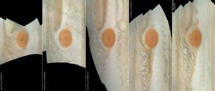 Así ha cambiado la Gran Mancha Roja de Júpiter en dos años