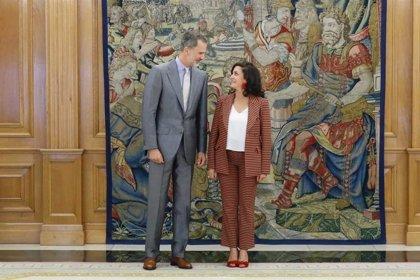 Concha Andreu propone al Rey crear un Instituto Cervantes digital centralizado en La Rioja