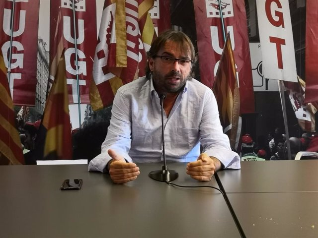 El secretari general de la UGT de Catalunya, Camil Ros.