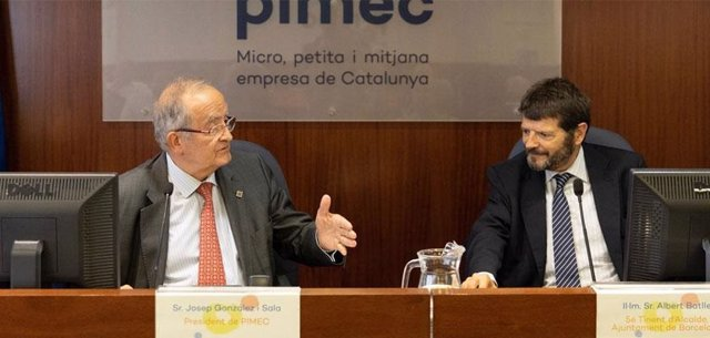 Josep González (Pimec) i Albert Batlle (Ajuntament)
