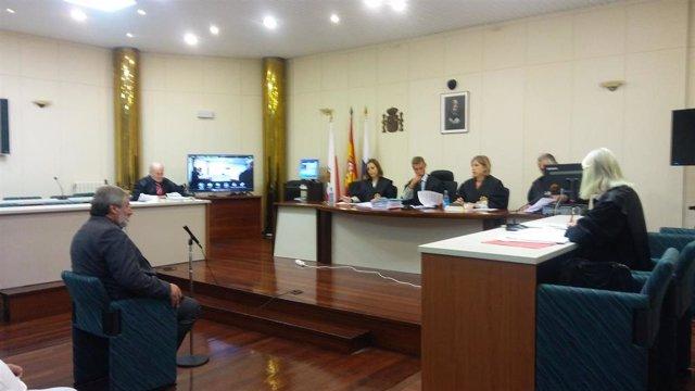 El alcalde de Valderredible, Fernando Fernández, en el juicio