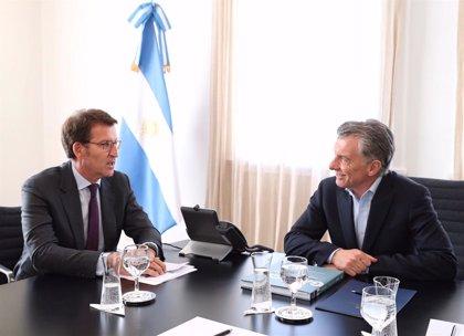"""Feijóo traslada a Macri la """"preocupación"""" por la inestabilidad en Argentina"""