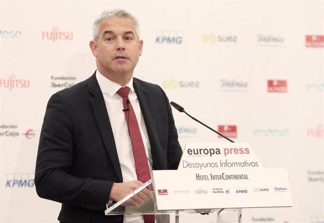 El ministro británico para el Brexit, Stephen Barclay, interviene durante los Desayunos Informativos de Europa Press en Madrid el jueves 19 de septiembre de 2019