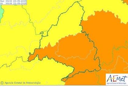Nivel naranja este viernes por tormentas en el área metropolitana y sureste de la región