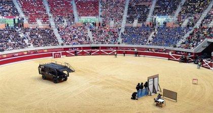 Más de 10.300 escolares disfrutan con la exhibición de la Policía Nacional en la Plaza de Toros de La Ribera de Logroño