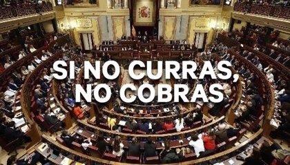 """Lanzan una campaña para que diputados y senadores renuncien a su indemnización: """"Si no curras, no cobras"""""""
