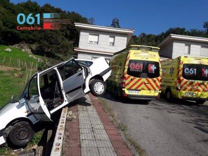Herido un hombre de 73 años en un accidente de tráfico en Praves