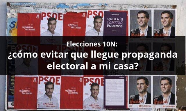 Propaganda electoral, campaña, elecciones generales, partidos políticos