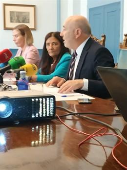 El delegado del Gobierno en Galicia, Javier Losada, en rueda de prensa en Lugo.