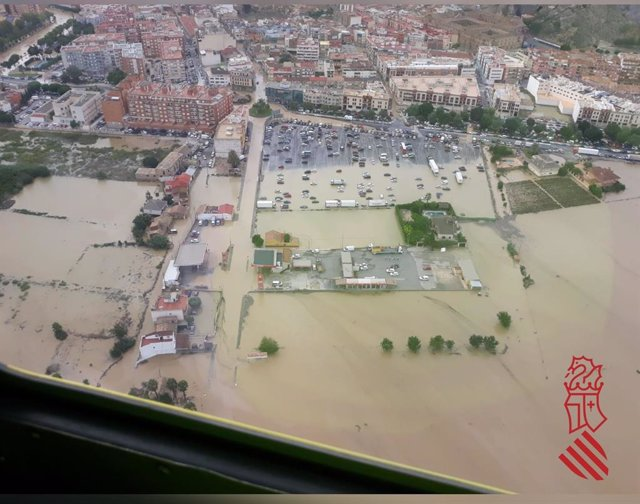 Inundacions a Oriola durant el temporal de setembre de 2019