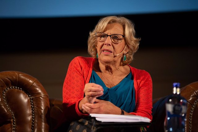 La exalcaldesa de Madrid, Manuela Carmena durante su intervención, en la inauguración del XIX Foro Acave, en Barcelona (España), a 19 de septiembre de 2019.