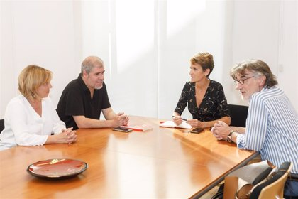 """Chivite muestra a CCOO su apuesta por acuerdos """"en el marco del diálogo social"""" y por formalizar un Plan de Empleo"""