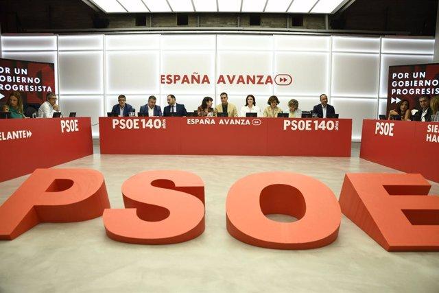 Reunió de la Comissió Executiva Federal del PSOE a la seva seu a Ferraz, a Madrid, 19 de setembre del 2019.