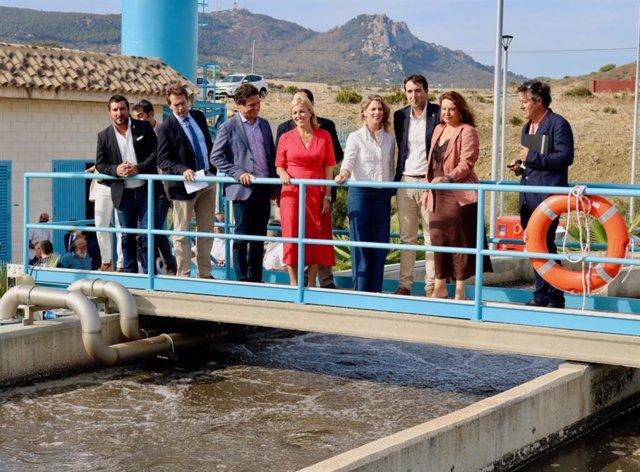 Acto de entrega de la depuradora de Bolonia por la Junta al Ayuntamiento de Tarifa